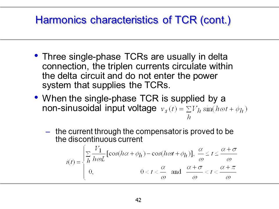 Harmonics characteristics of TCR (cont.)