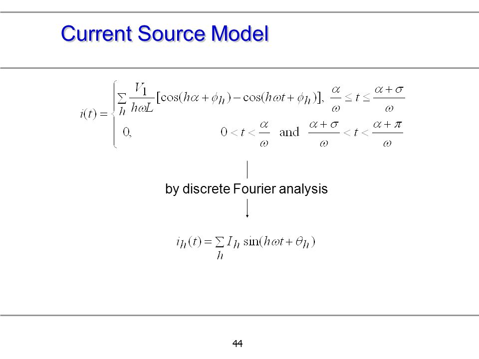Current Source Model by discrete Fourier analysis 中正--電力品質實驗室