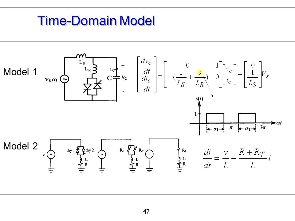 Time-Domain Model Model 1 Model 2