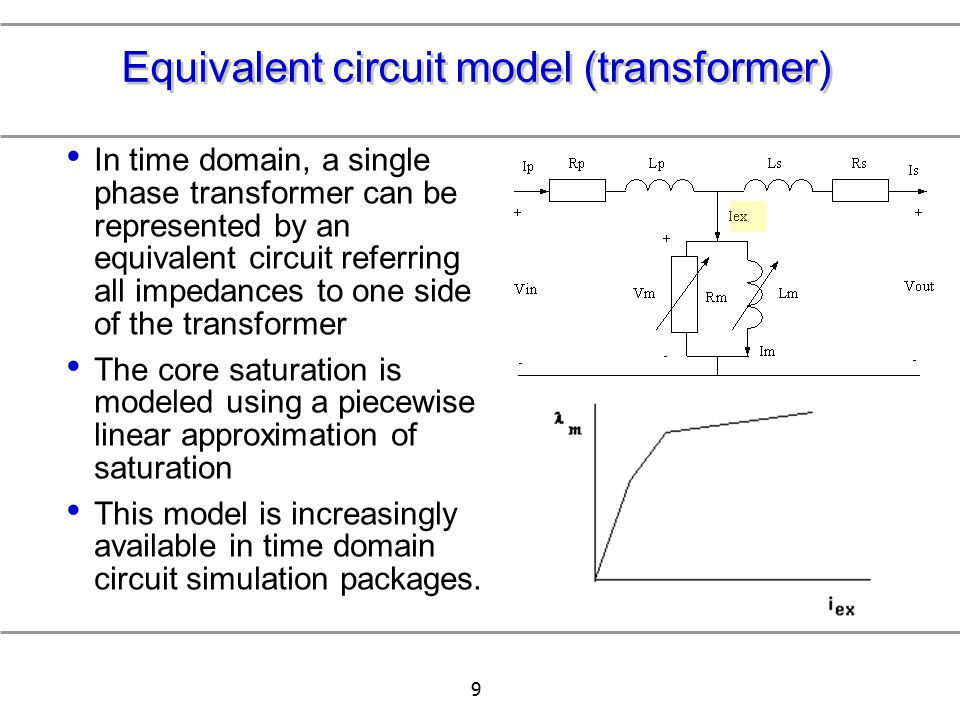 Equivalent circuit model (transformer)