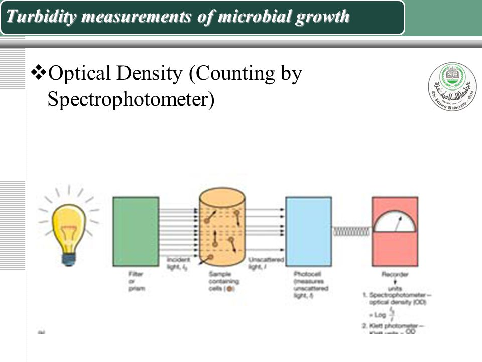 Turbidity measurements of microbial growth