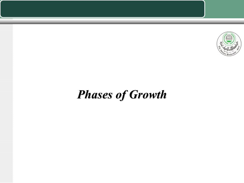 Phases of Growth