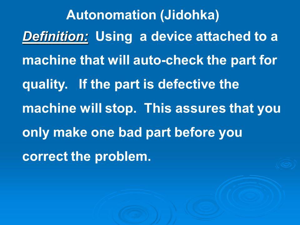 Autonomation (Jidohka)