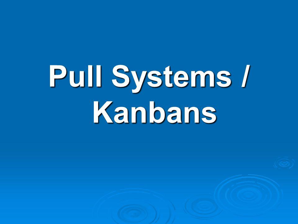 Pull Systems / Kanbans