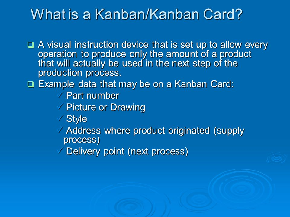What is a Kanban/Kanban Card
