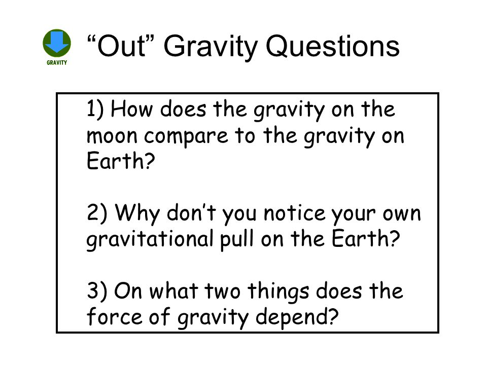 Out Gravity Questions