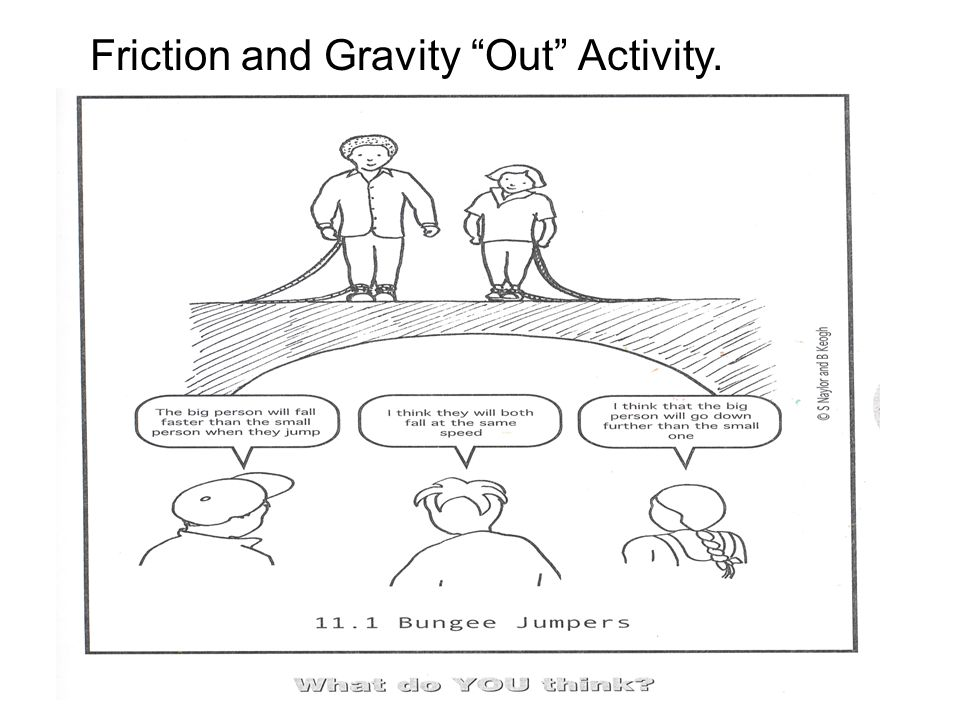 Friction and Gravity Out Activity.