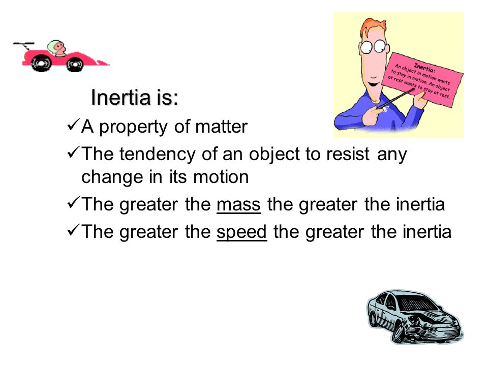 Inertia is: A property of matter