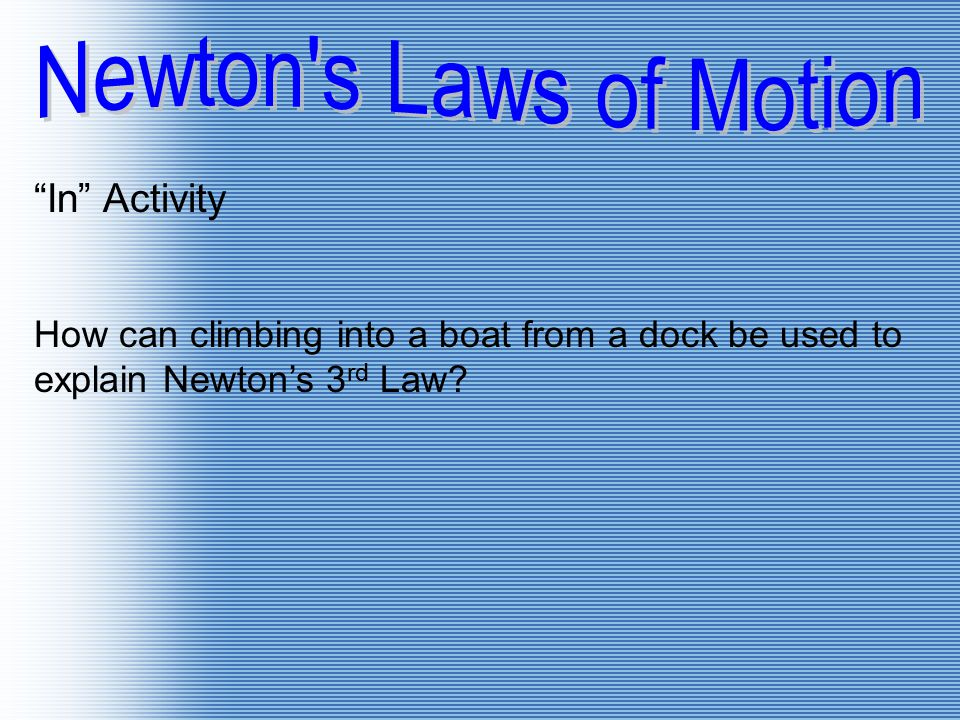 Newton s Laws of Motion In Activity