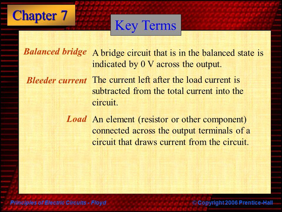 Key Terms Balanced bridge