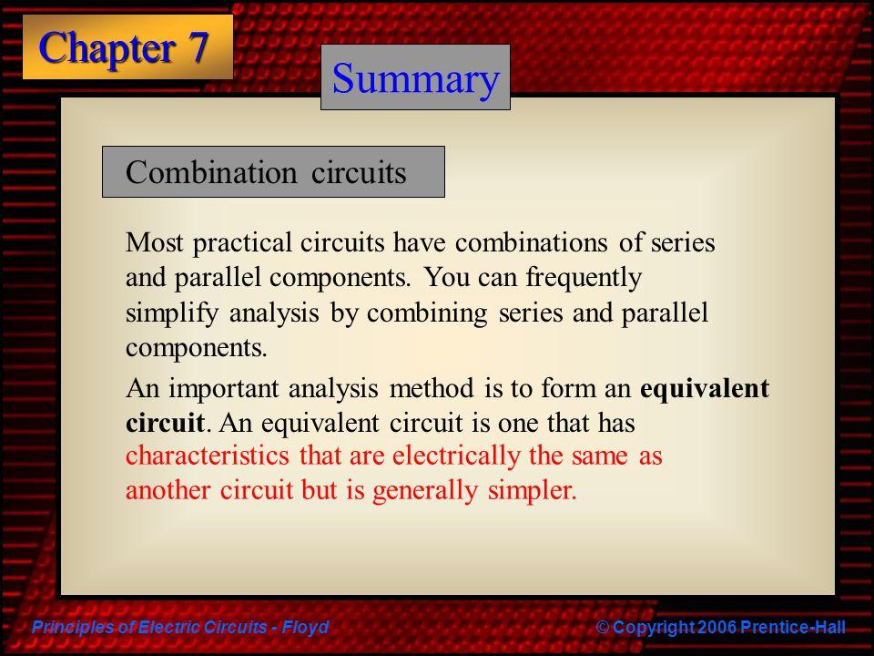 Summary Summary Combination circuits