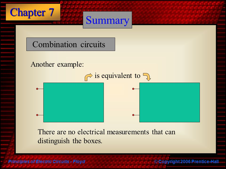 Summary Summary Combination circuits Another example: is equivalent to
