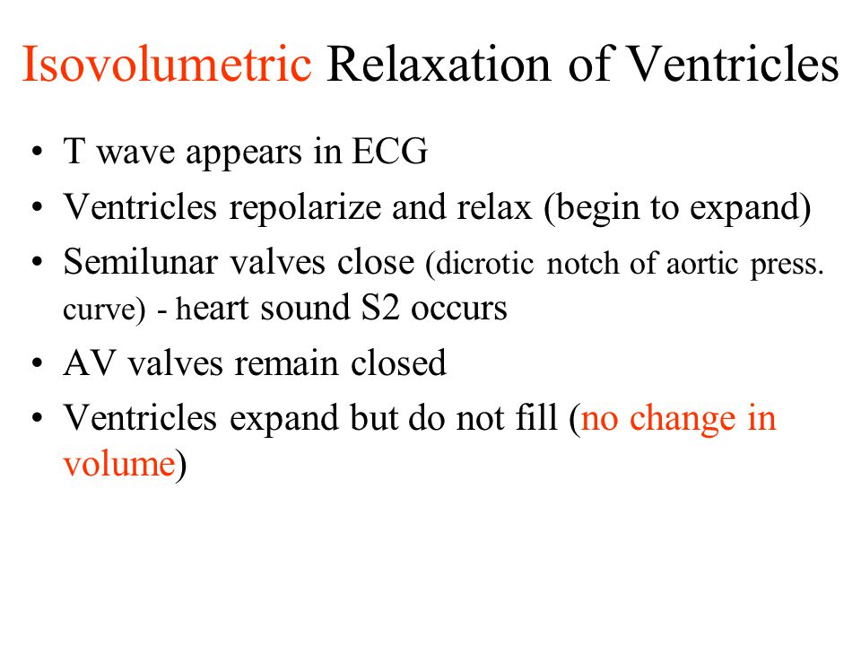 Isovolumetric Relaxation of Ventricles