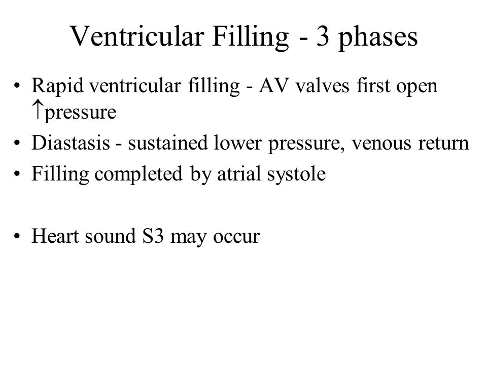 Ventricular Filling - 3 phases