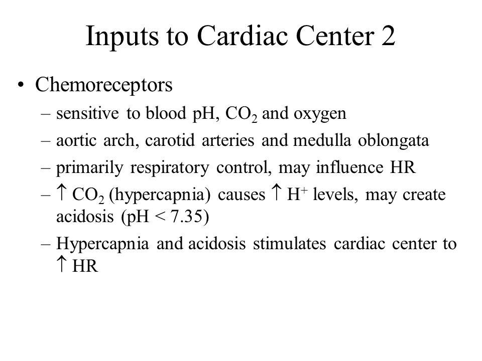Inputs to Cardiac Center 2
