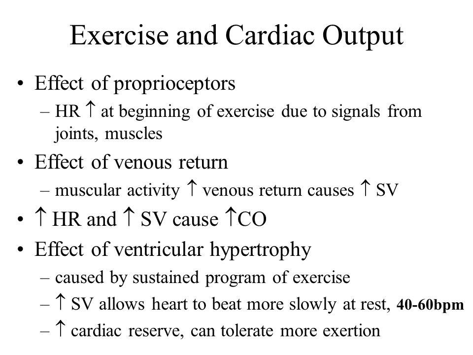 Exercise and Cardiac Output