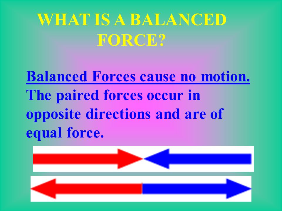 WHAT IS A BALANCED FORCE