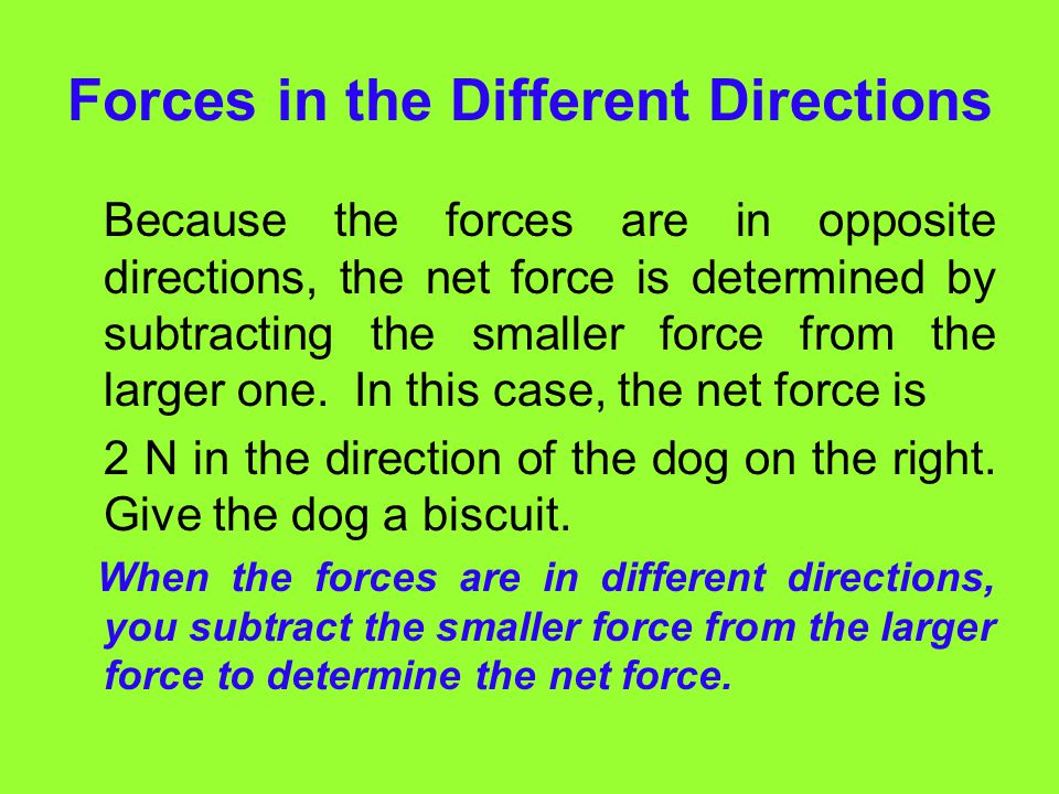 Forces in the Different Directions