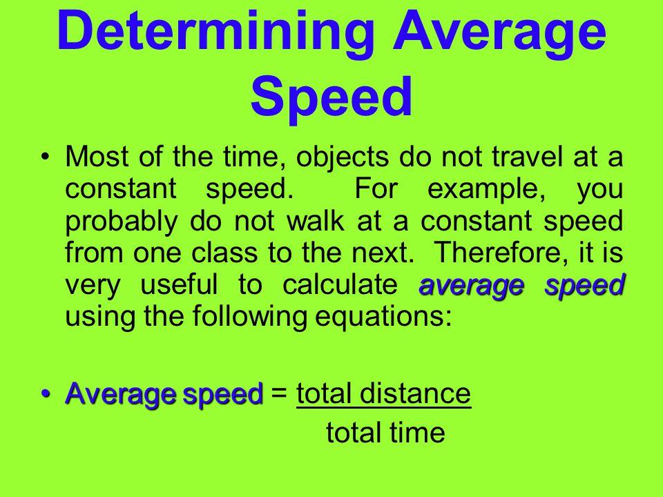 Determining Average Speed