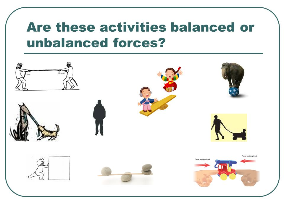Are these activities balanced or unbalanced forces