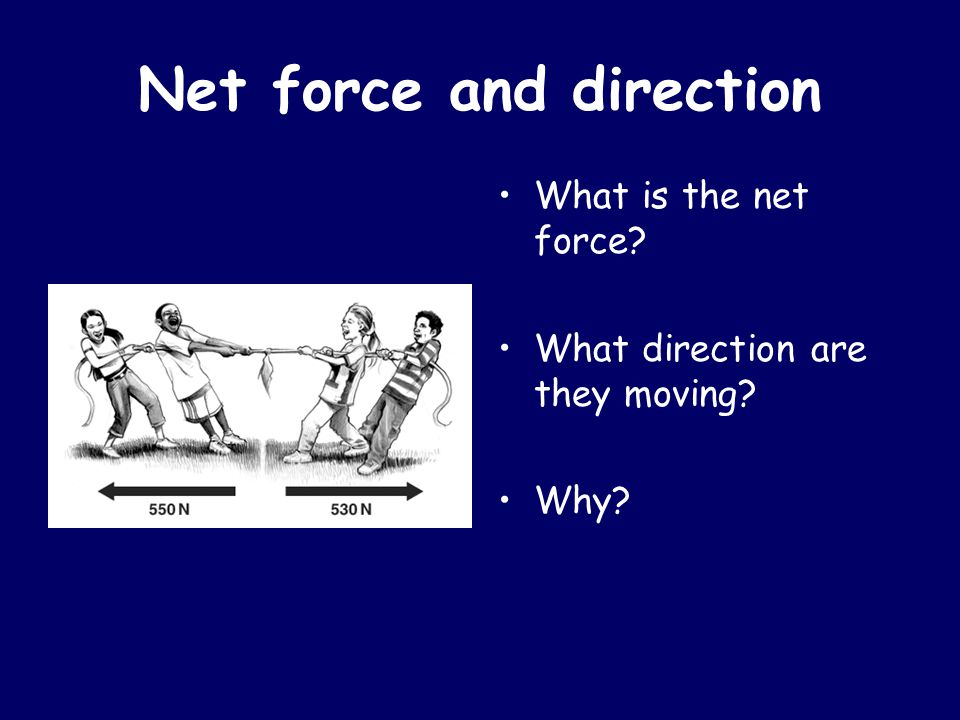 Net force and direction