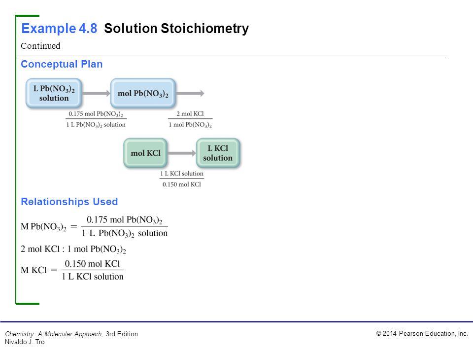 Example 4.8 Solution Stoichiometry