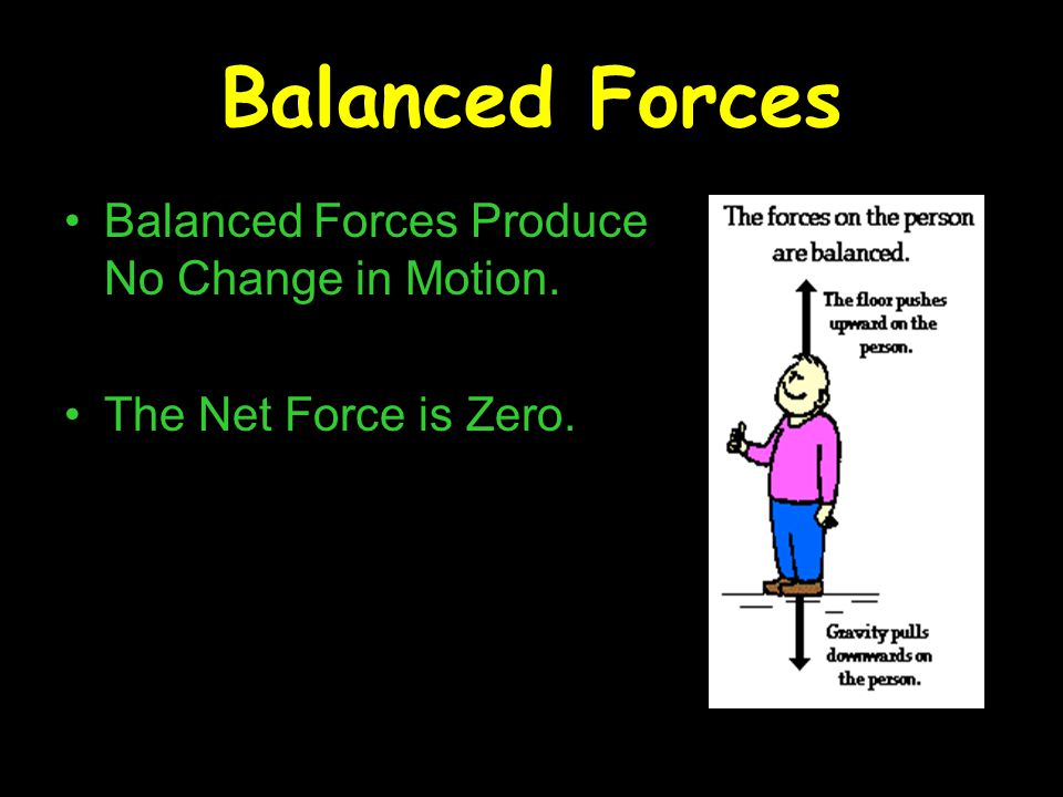 Balanced Forces Balanced Forces Produce No Change in Motion.