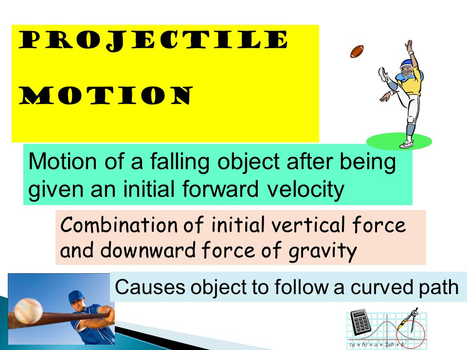 Motion of a falling object after being