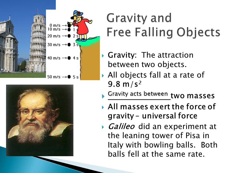 Gravity and Free Falling Objects
