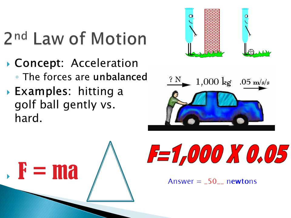 2nd Law of Motion Concept: Acceleration