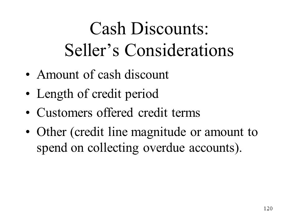Cash Discounts: Seller's Considerations