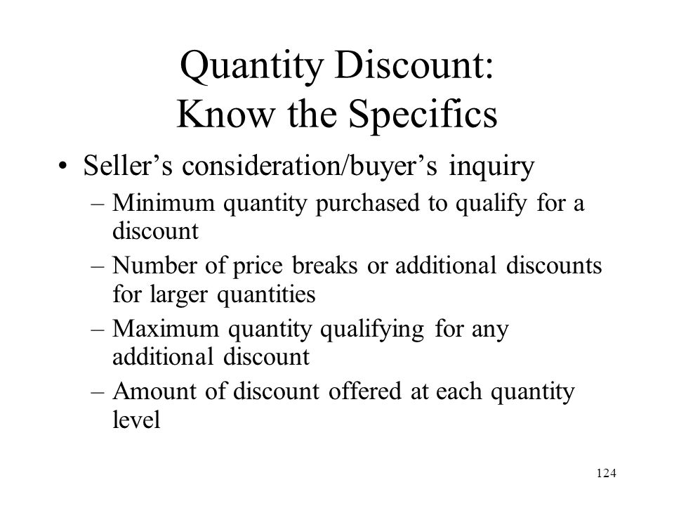 Quantity Discount: Know the Specifics