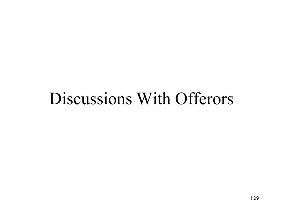 Discussions With Offerors