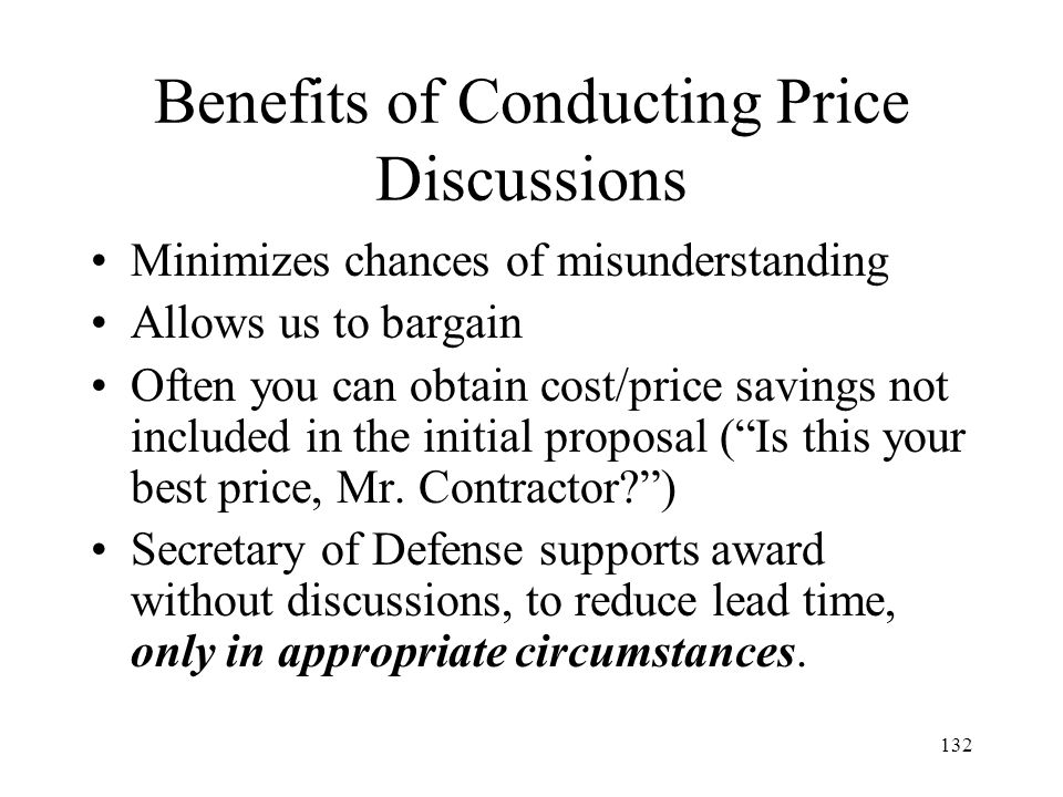 Benefits of Conducting Price Discussions