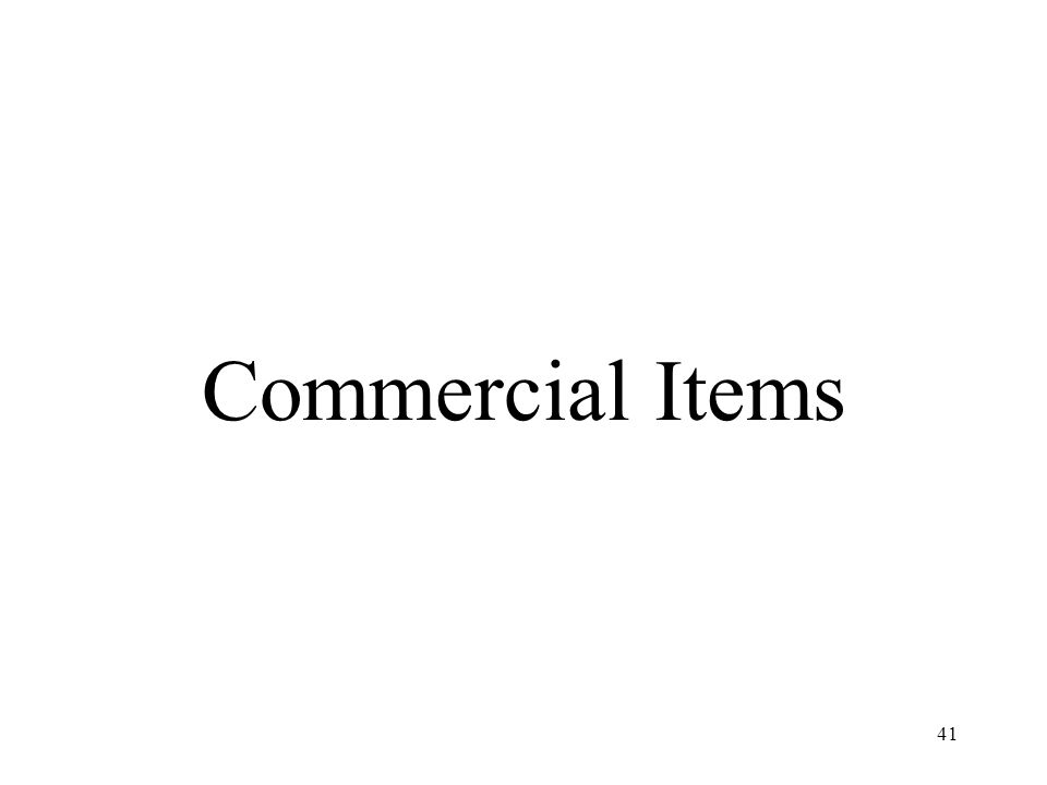 Commercial Items