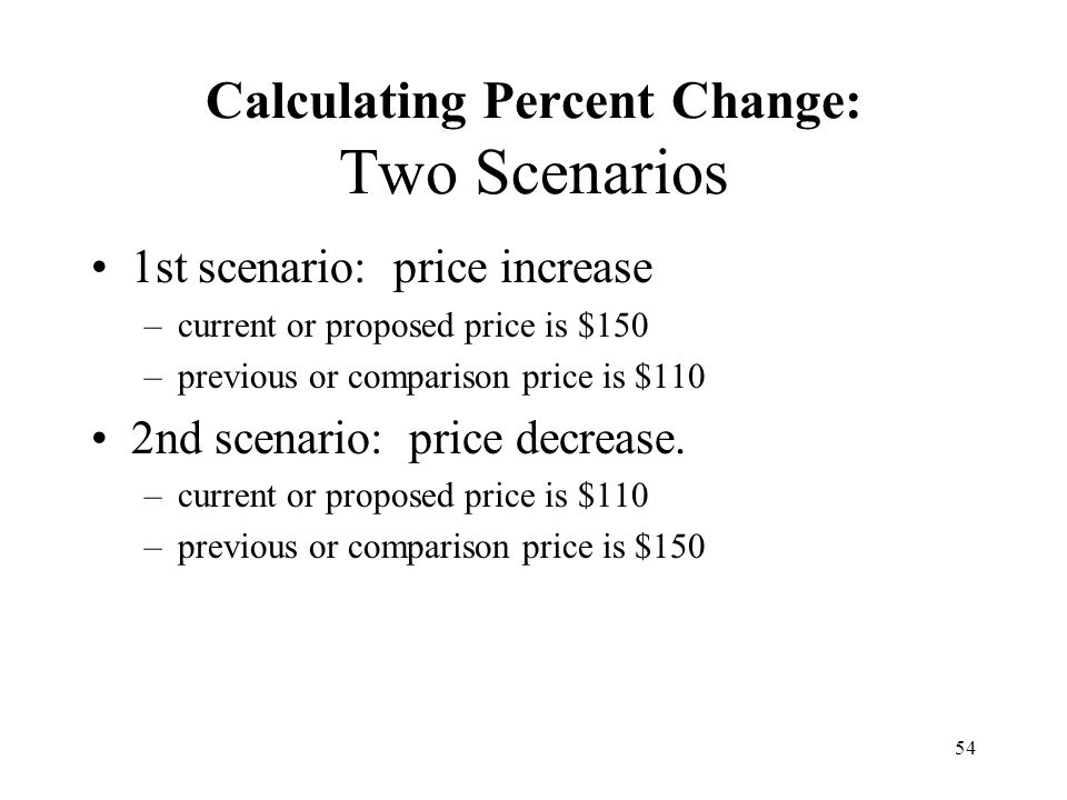 Calculating Percent Change: Two Scenarios