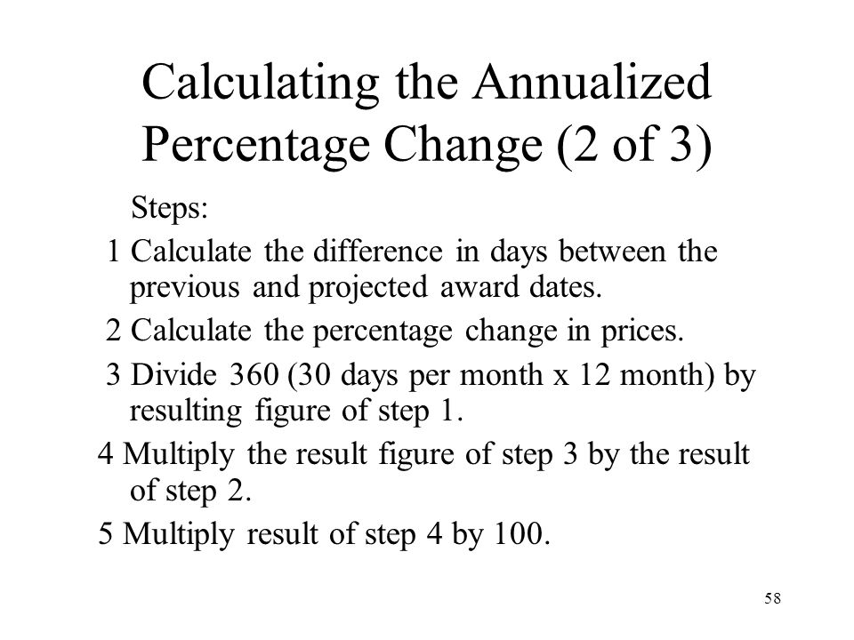 Calculating the Annualized Percentage Change (2 of 3)