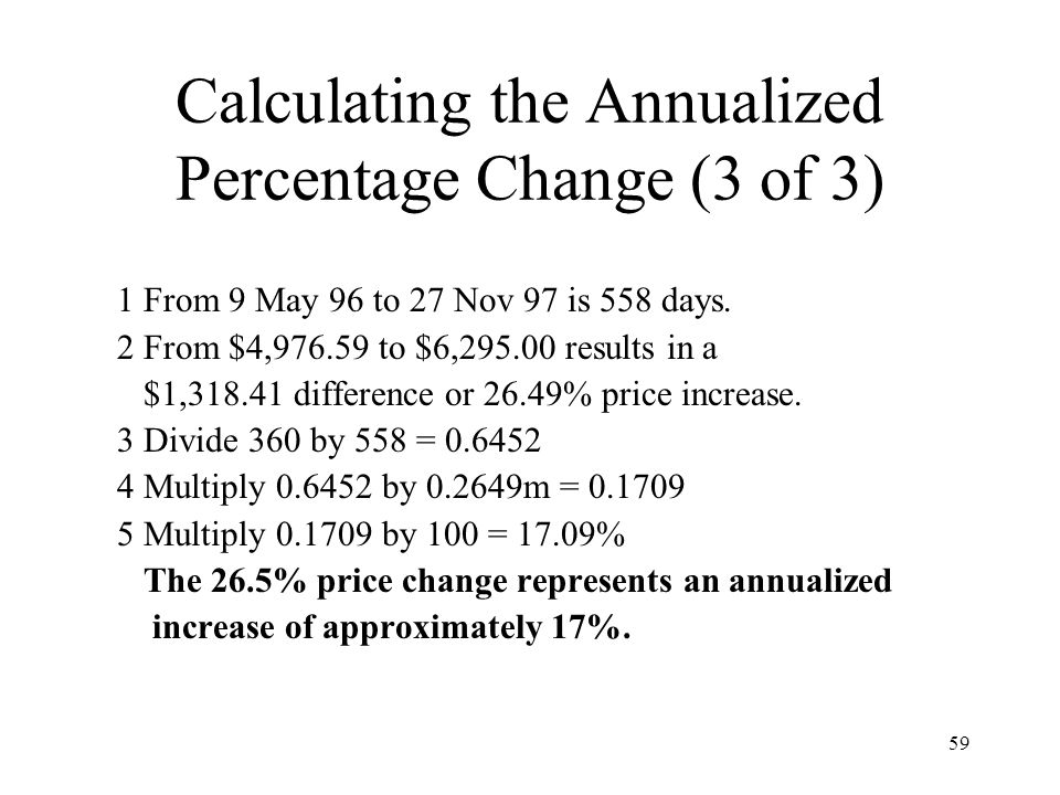 Calculating the Annualized Percentage Change (3 of 3)