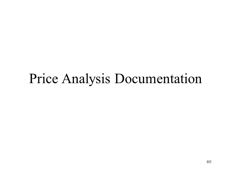 Price Analysis Documentation