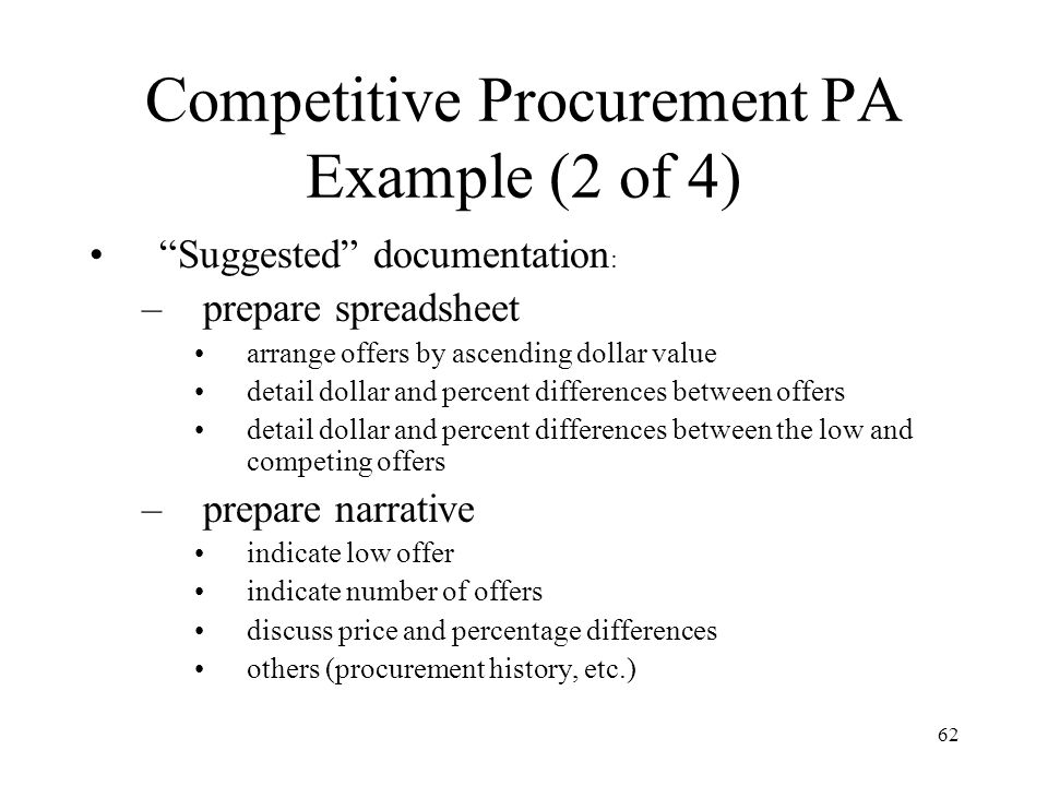 Competitive Procurement PA Example (2 of 4)
