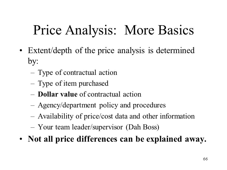 Price Analysis: More Basics
