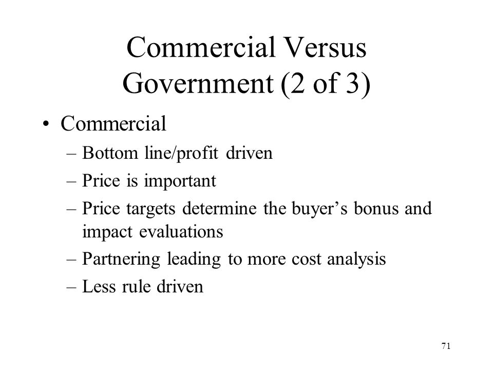 Commercial Versus Government (2 of 3)