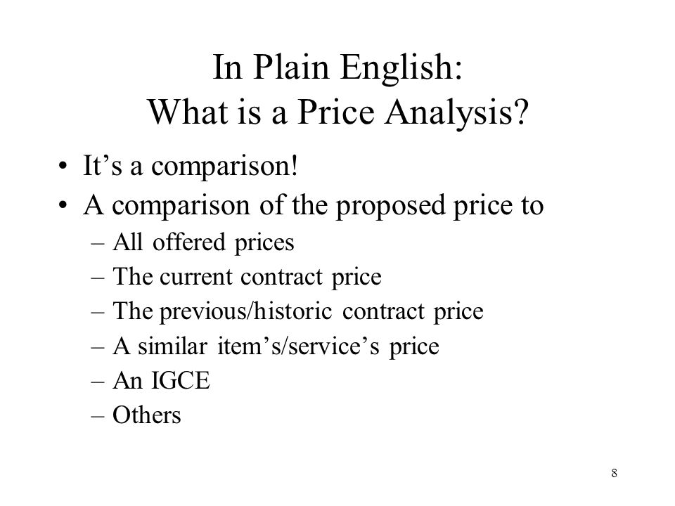 In Plain English: What is a Price Analysis