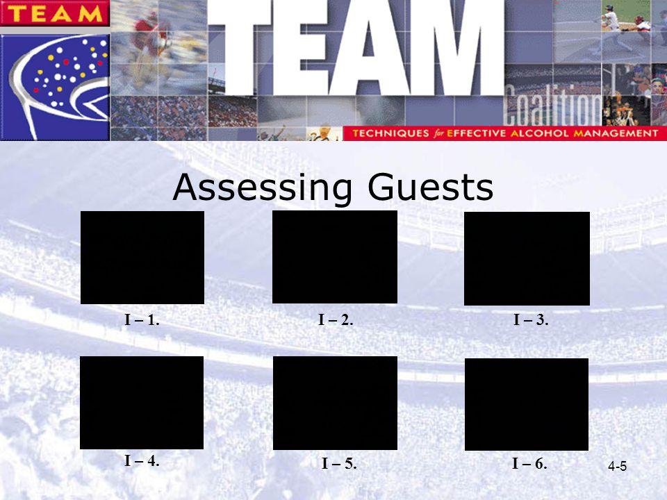 Assessing Guests I – 1. I – 2. I – 3. I – 4. I – 5. I – 6.