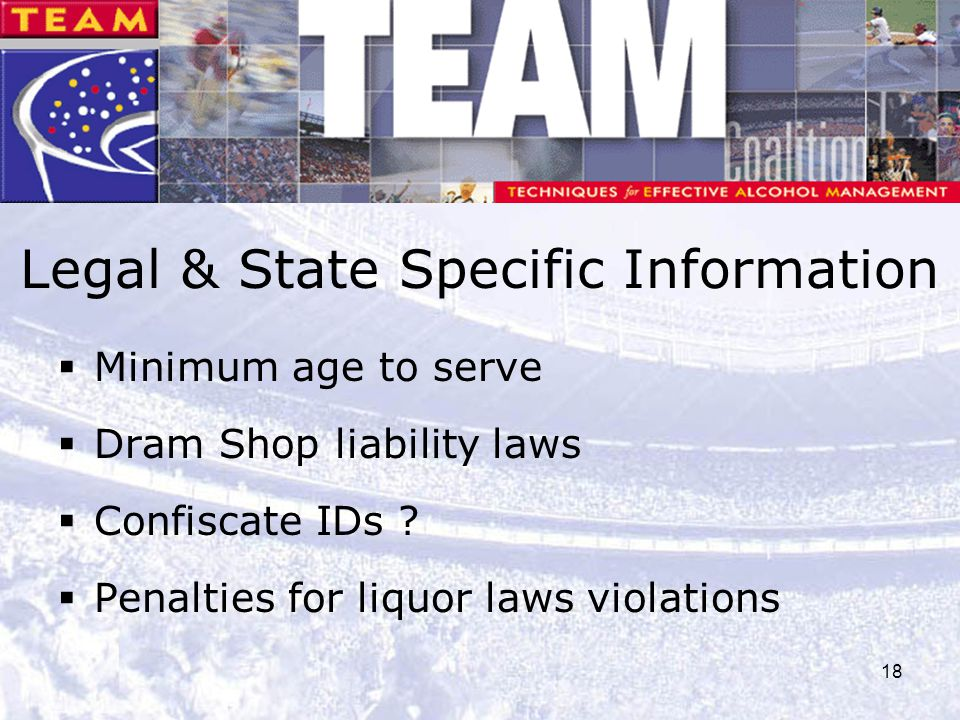 Legal & State Specific Information