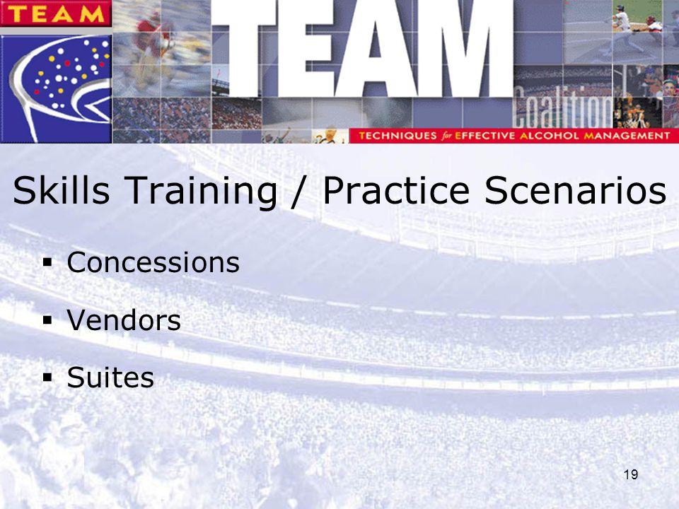 Skills Training / Practice Scenarios