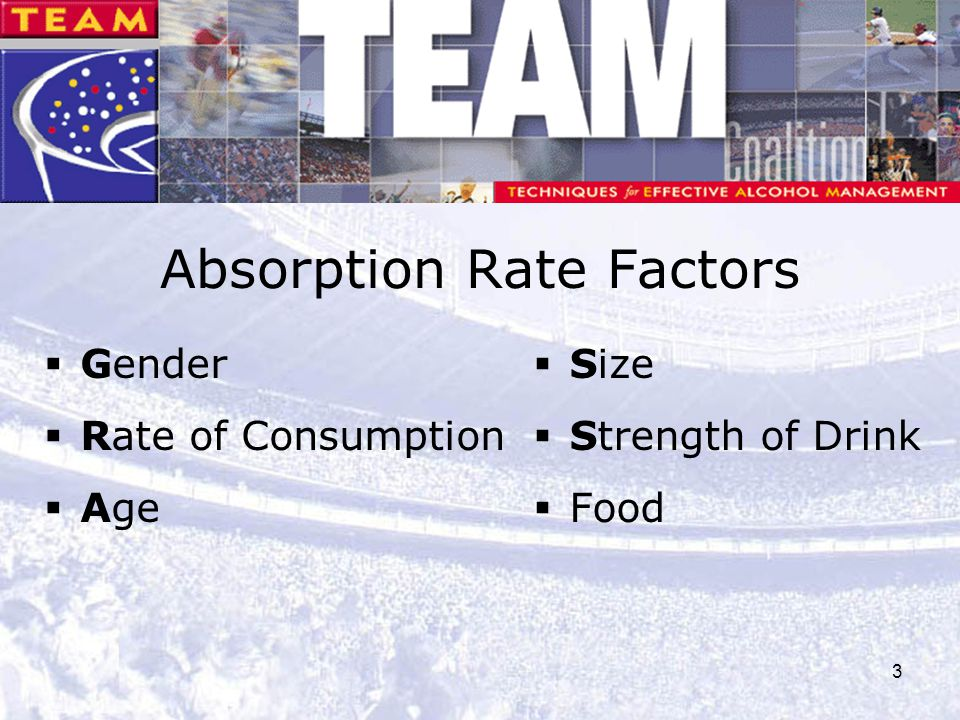 Absorption Rate Factors