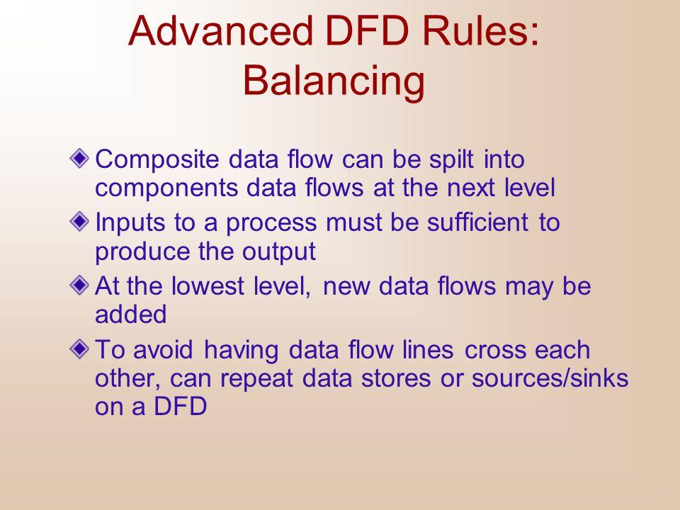 Advanced DFD Rules: Balancing