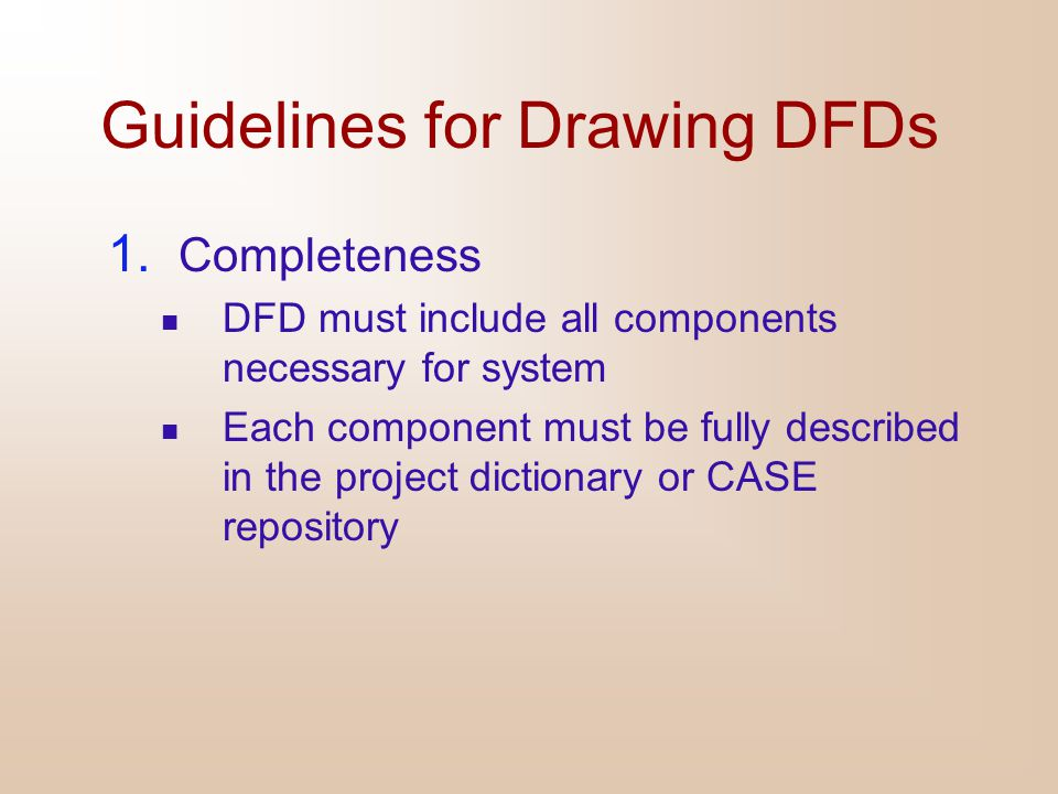 Guidelines for Drawing DFDs