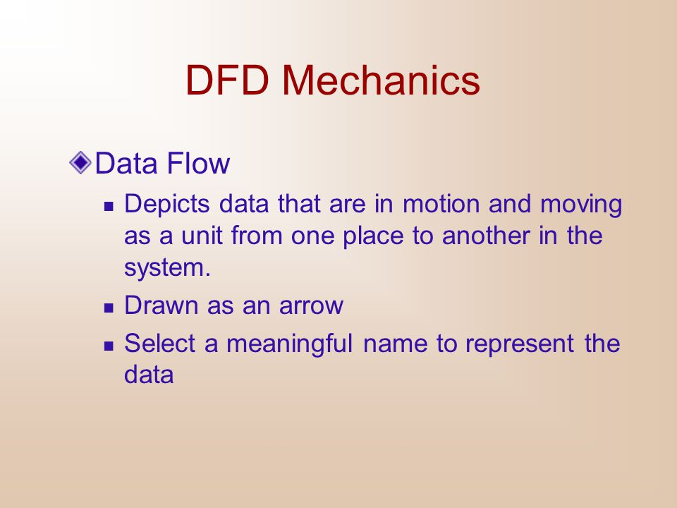 DFD Mechanics Data Flow